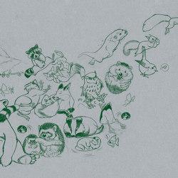 Jump Paper Green   Wall art / Murals   TECNOGRAFICA