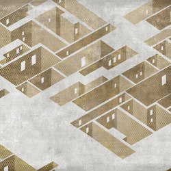Metropolis Gold | Wall art / Murals | TECNOGRAFICA