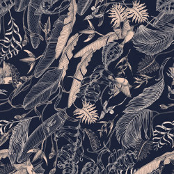 Tropical Foliage Navy | Wall art / Murals | TECNOGRAFICA
