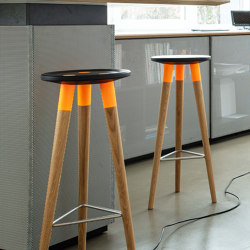 Barstool orange oak | Sgabelli bancone | OXIT design