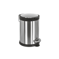 Small pedal bin (L 3), stainless steel with amortized closure | Bath waste bins | COLOMBO DESIGN