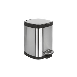 Small pedal bin (L 5), stainless steel with amortized closure | Bath waste bins | COLOMBO DESIGN