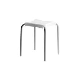 Sgabello SIT. Seduta in ABS bianco. Struttura in alluminio verniciato con polvere epossidica grigia | Sgabelli | COLOMBO DESIGN