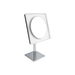 Standing magnifying mirror (3 times) with LED built-in light | Bath mirrors | COLOMBO DESIGN
