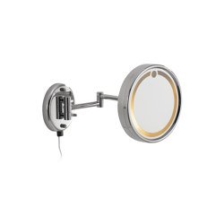 Wall magnifying mirror (2 times) complete with built-in light (class II) | Espejos de baño | COLOMBO DESIGN