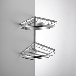 Double corner basket with hook | Sponge baskets | COLOMBO DESIGN