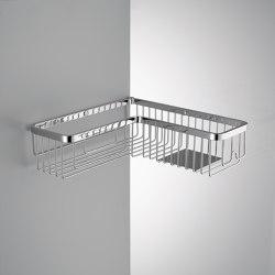 Single corner basket with stainless steel shelf | Sponge baskets | COLOMBO DESIGN