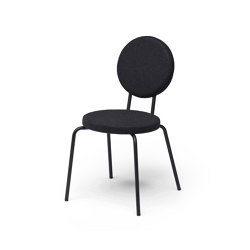 Option Chair Black Round Seat Round Back | Stühle | PUIK