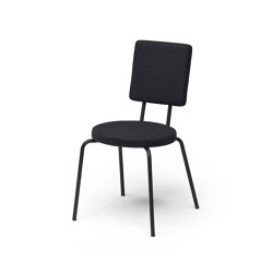 Option Chair Black Round Seat Square Back | Stühle | PUIK