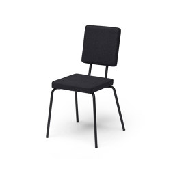 Option Chair Black Square Seat Square Back | Stühle | PUIK