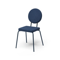 Option Chair Darkblue Square Seat Round Back | Chairs | PUIK
