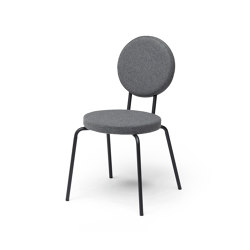Option Chair Grey Round Seat Round Back | Chairs | PUIK