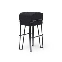 Bokk Bar Black Felt | Bar stools | PUIK