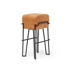 Bokk Bar Cognac Leather | Bar stools | PUIK