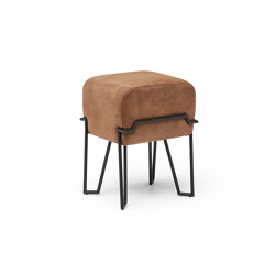 Bokk Brown Leather | Poufs / Polsterhocker | PUIK