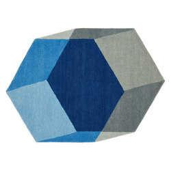 Iso Hexagon Blue | Rugs | PUIK