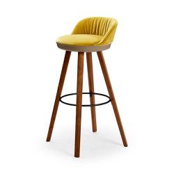 Romy | Barstool mit Holzgestell | Barhocker | FREIFRAU MANUFAKTUR