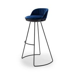 Romy | Barstool with steel frame | Sgabelli bancone | FREIFRAU MANUFAKTUR