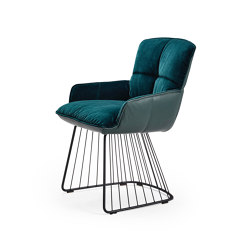 Marla | Armchair Low with harp frame | Sillas | FREIFRAU MANUFAKTUR