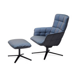 Marla | Ottoman with x-base frame with rocker/tilting mechanism | Sillones | FREIFRAU MANUFAKTUR