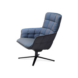 Marla | Easy Chair High with x-base frame | Sillones | FREIFRAU MANUFAKTUR