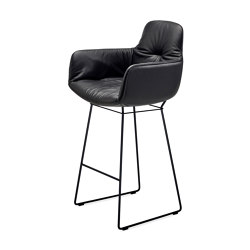 Leya | Counter Armchair High with wire frame | Sillas de trabajo altas | FREIFRAU MANUFAKTUR