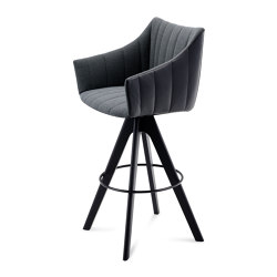 Rubie | Bar Armchair High with wooden frame | Tabourets de bar | FREIFRAU MANUFAKTUR