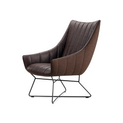 Rubie | Bar Lounge Chair with wire frame | Poltrone | FREIFRAU MANUFAKTUR