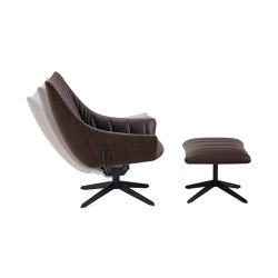 Rubie | Bar Lounge Chair with steelframe with rocker/tilting mechanism | Fauteuils | FREIFRAU MANUFAKTUR