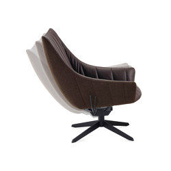 Rubie | Bar Lounge Chair with steelframe with rocker/tilting mechanism | Armchairs | FREIFRAU MANUFAKTUR