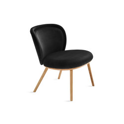 Ona | Cocktail Chair with wooden frame | Poltrone | FREIFRAU MANUFAKTUR