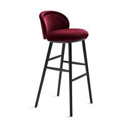 Ona | Barstool with wooden frame | Bar stools | FREIFRAU MANUFAKTUR