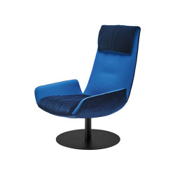 Amelie | Lounge Chair with central leg | Poltrone | FREIFRAU MANUFAKTUR