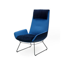 Amelie | Lounge Chair with wire frame | Sillones | FREIFRAU MANUFAKTUR