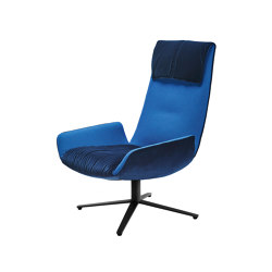 Amelie | Lounge Chair with x-base frame | Armchairs | Freifrau Sitzmöbelmanufaktur