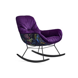 Leya | Rocking Lounge Chair | Poltrone | FREIFRAU MANUFAKTUR