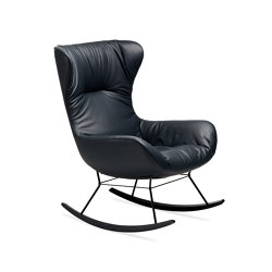 Leya | Rocking Wingback Chair | Armchairs | FREIFRAU MANUFAKTUR