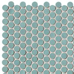 Chelsea Brick Aquamarine Round Mosaico | Ceramic mosaics | Fap Ceramiche