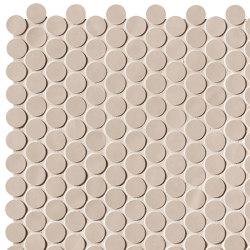 Chelsea Brick Beige Round Mos | Ceramic mosaics | Fap Ceramiche