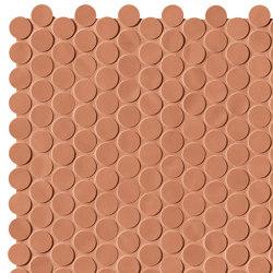 Chelsea Brick Caramel Round Mosaico | Ceramic mosaics | Fap Ceramiche