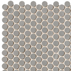 Chelsea Brick Grey Round Mosaico | Ceramic mosaics | Fap Ceramiche