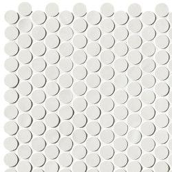 Chelsea Brick White Round Mosaico | Ceramic mosaics | Fap Ceramiche