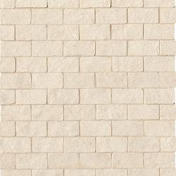 Lumina Stone Beige Brick Macromosaico Anticato | Ceramic mosaics | Fap Ceramiche