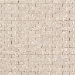 Nux Beige Brick Mosaico Anticato | Ceramic mosaics | Fap Ceramiche