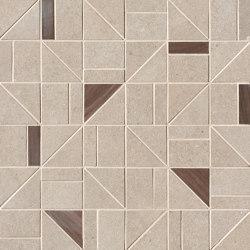 Nux Beige Gres Outline Mosaico | Ceramic mosaics | Fap Ceramiche