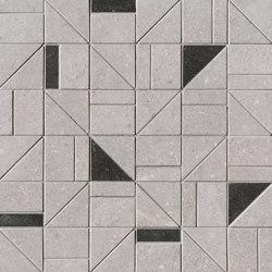 Nux Grey Gres Outline Mosaico | Ceramic mosaics | Fap Ceramiche