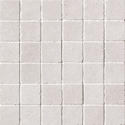 Nux White Gres Macromosaico Anticato | Ceramic mosaics | Fap Ceramiche