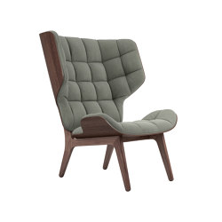 Mammoth Chair, Dark Stained / Canvas Washed Green | Armchairs | NORR11