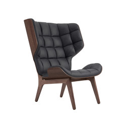 Mammoth Chair, Dark Stained / Vintage Leather Anthracite | Armchairs | NORR11