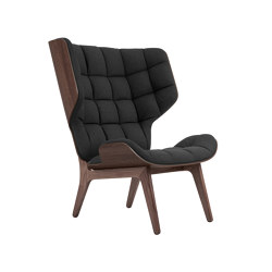 Mammoth Chair, Dark Stained / Wool: Coal Grey | Armchairs | NORR11